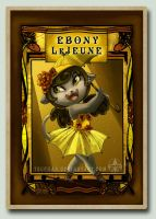 Ebony Character Card by Tsuchan
