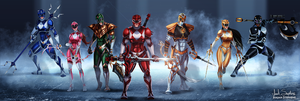 Go Go Power Rangers!! by IsaiahStephens
