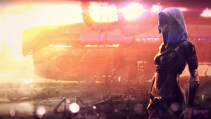 Tali'Zorah nar Rayya (Wallpaper on the laptop) by RdcAMV