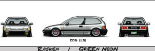 Big pixel Civic by GrEEnNeoN