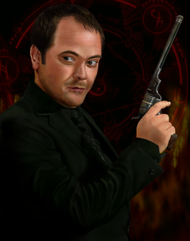 Crowley, King of Hell - digital painting - fan art by Giselle-M