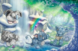 Blue Nose Spring Forest by ShaneMadeArt