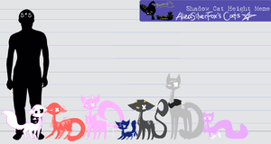 Shadow Cats // Height Chart by Monotoki