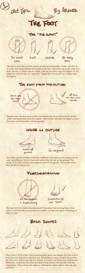 Art Tips - The Foot by ArandaDill