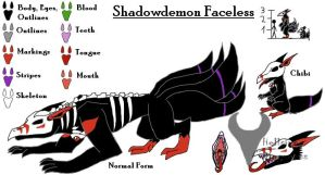 Shadowdemon Faceless Ref Sheet by HellsingDragoness
