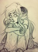 Aradia'd in a sketchbook by bringsnacks