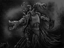 monster doing things grey by Conglaci
