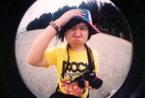 It's me in the fish eye by OCMay