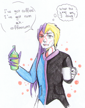 Haxlen and the coffeerum {Gift} by nightwish77