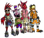 I Luv Halloween characters by BrokenTeapot