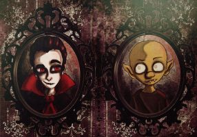 McVamp and Nosy by toadsandtombstones