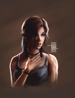 Lara Croft Portrait by FearEffectInferno