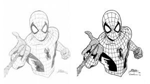 George Perez Spidey side-to-side by VikThor