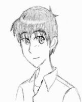 Shinji Doodle by TimidLion