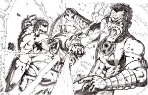 Green Lantern vs Sinestro by alfred183