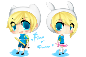 Finn and Fionna by NekuruK