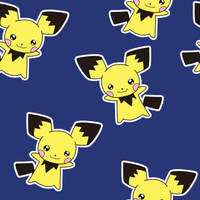 Pichu tileable wallpaper by cappydarn