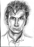 The Tenth Doctor Facial Detail by Tardiscailin