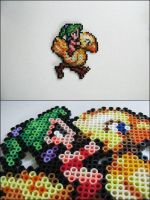 Final Fantasy 6 Terra riding chocobo bead sprite by 8bitcraft