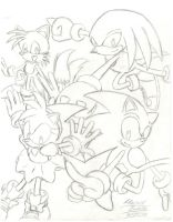 Sonic and Friends by SupaSilver