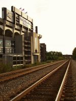 BOA Stadium from the Wrong Side of the Tracks by jwebbermedia