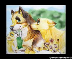 Norwegian behunds Family by PuppyDawgChick
