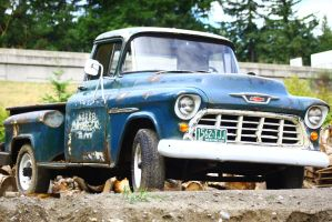 Awesome old truck in the lumber yard by ExposeTheBeauty
