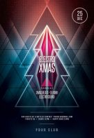 Electro Xmas Flyer by styleWish