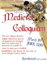 Medieval Colloquium Poster by StatusDelirious
