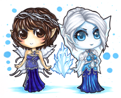Winter Faes by Theherois--me