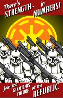 Clone Recruitment Poster by piotrov