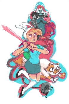 Fionna and Cake by raddishh