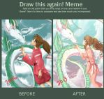 Before-After Meme (SpiritedAway) by Ayasal