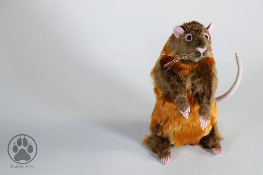 Puka the Valley Rat poseable art doll OOAK! by CreaturesofNat