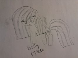 Old sketches: Dolly Flash again by cottoncloudyfilly