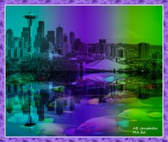 Bright Seattle And Sound Reflection 1 by abjonsdottir