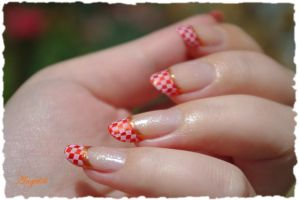 Nail Art French Orange by Angelik23
