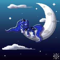 Animation - Sleeping Pixel Luna by itsjaytimestwo