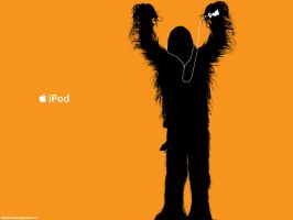 Chewbacca iPod ad by hitokirivader