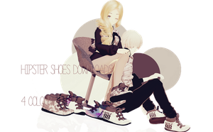 MMD:Hipster Shoes Downloads +EXO Shoes by iinoone