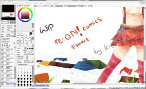 re:ON Comics Fanart WIP by NagaYuu