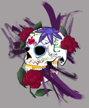 Sugar Skull - Tattoo Design by LittleVoodooShoppe