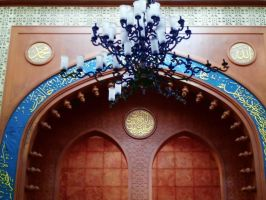 DECORATION INSIDE MOSQUE by diimaaz