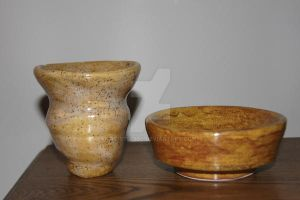 vase and bowl by RG-Studios