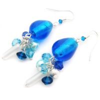 Blue Drop Earrings by fairy-cakes