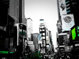 tilt-shifted times square by ukhan50699