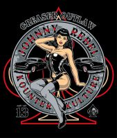 Johnny Rebel T-Shirt Design Pin Up by russellink