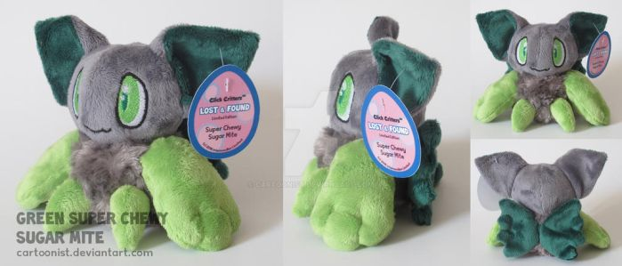 Green Sugar Mite Plushie by cartoonist