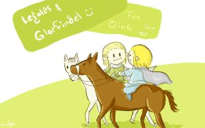 Glorfindel and Legolas by SaerwenApsenniel