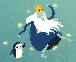 Ice King and Gunter by Eminina